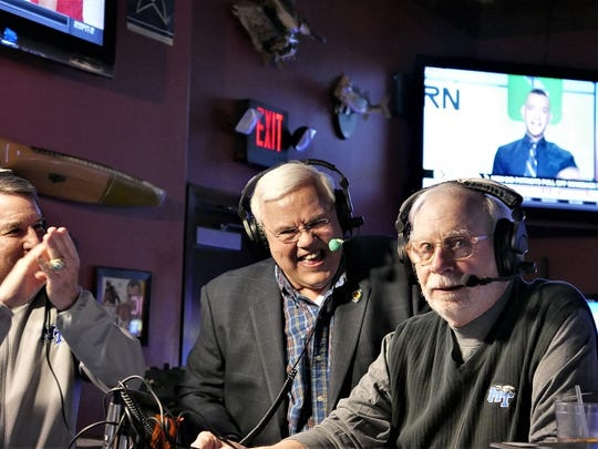 Rick Insell (left), Pete Weber (center) and Dick Palmer at Sam's Sports Grill in Murfreesboro's Stones River Mall on Jan. 22, 2018.
