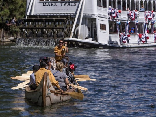 Don't want to be constrained by tracks or rails? Grab an oar and step into the Davy Crockett Explorer Canoes.
