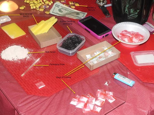 Drugs and drug paraphernalia found during the search