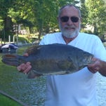 The largest smallmouth bass ever caught in Michigan