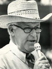 Tom Kinder, the Bengals first public address announcer.