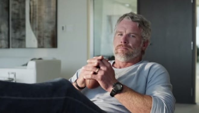 Brett Favre will featured in a Super Bowl commercial on Sunday.