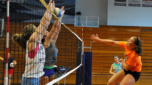 """Enka volleyball will host its annual """"Dig for a Cure"""" fundraiser on Saturday in Candler."""