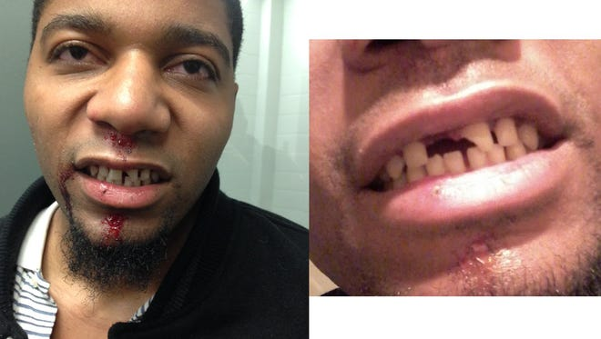 JaQuan Williams, 21, of Greenville, is pictured here in two photos. The Greenville City Police Department provided the photo on the left from the night Williams was arrested. The photo on the right was posted on Facebook.
