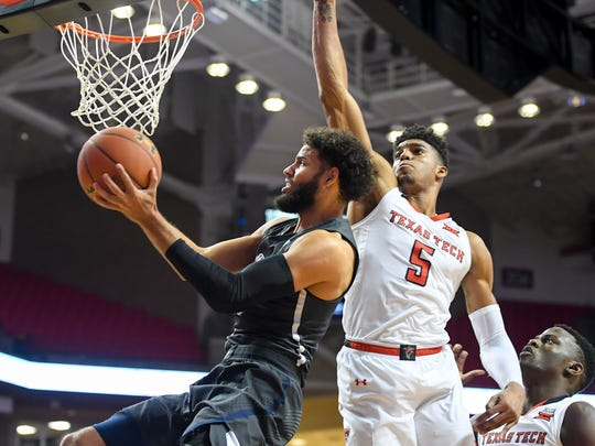Cody Martin attacks the the rim during Nevada's game against Texas Tech.
