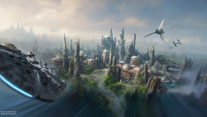 Star Wars-themed lands will be coming to Disneyland park in Anaheim, Calif., and Disney's Hollywood Studios in Orlando, Fla., creating Disney's largest single-themed land expansions ever at 14-acres each, transporting guests to a never-before-seen planet, a remote trading port and one of the last stops before wild space where Star Wars characters and their stories come to life.