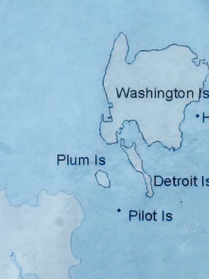 The underwater electric cable stretches from the tip of the Door County peninsula to Washington Island.