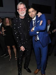 Actor Adrian Grenier poses with Steve Wilson, founder of 21c Museum Hotel, at the Hermitage Derby Toast hosted by Longines and Vanity Fair at 21C on May 6, 2016.