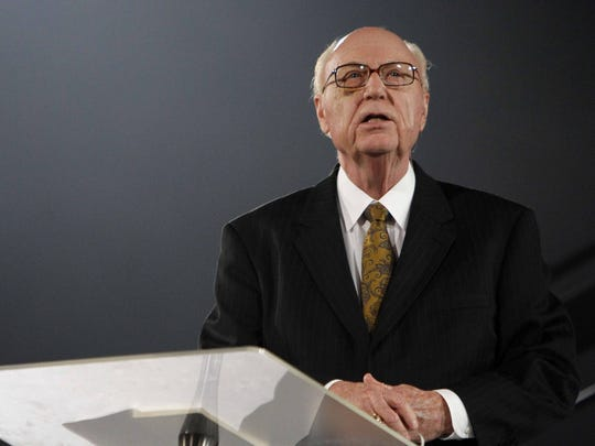 In 2014, George O. Wood spoke during the Assemblies of God Centennial Celebration at JQH Arena.