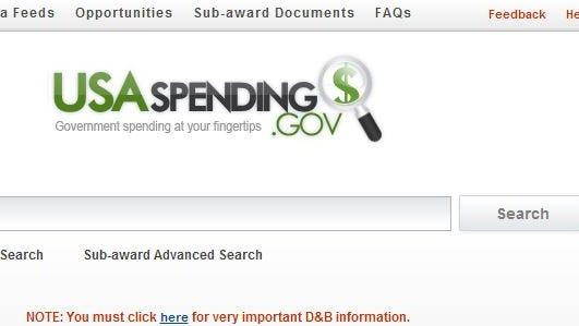 The USASpending.gov web site.