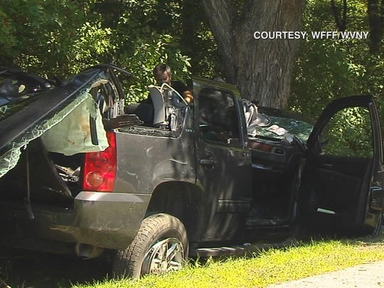 Louis B. Freeh, former FBI director, was injured in this one-car crash Monday in Barnard.
