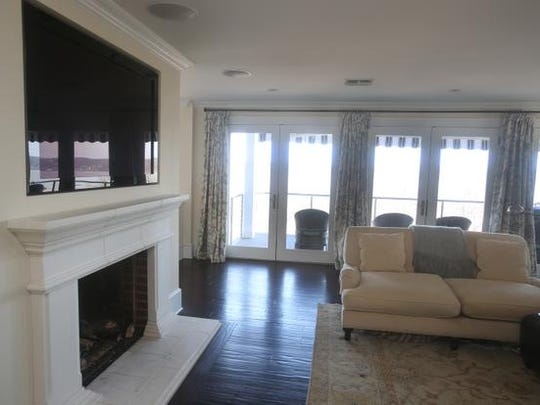 The living room in the home at 897 Route 9W in Upper Grandview.