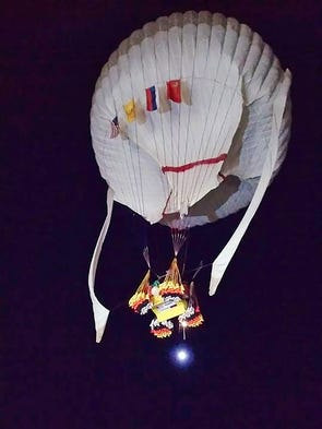 In this photo provided by the Two Eagles Balloon Team,