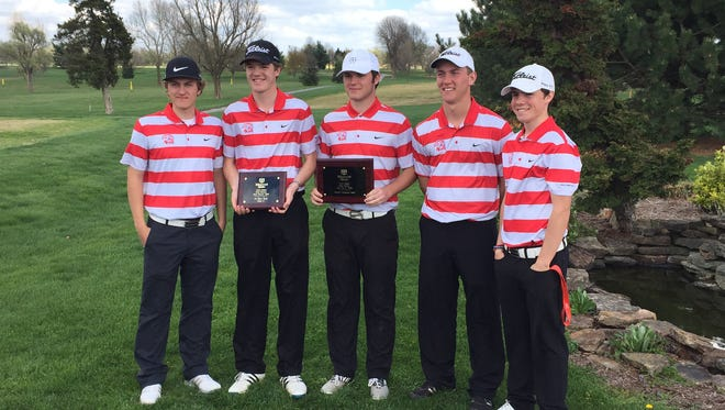Glendale captured the 2016 Class 4 District 5 championship on Monday, May 2 at Piney Valley Golf Course. From left, Christopher Obert, Graham Sherard, Sam Holmes, Alex Locke and Chase Gafner.