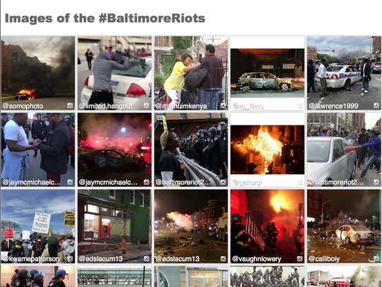 Images of the #BaltimoreRiots