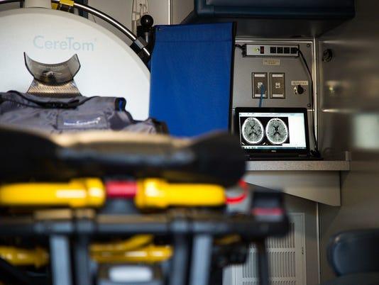 Mobile stroke-treatment vehicle
