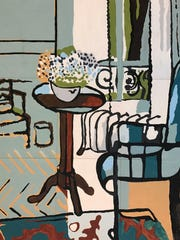 """A replica of artist Matisse's """"The Window,"""" painted"""