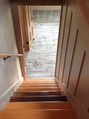 Two of the treads on the stairs are from the Delaney House's original stairs.