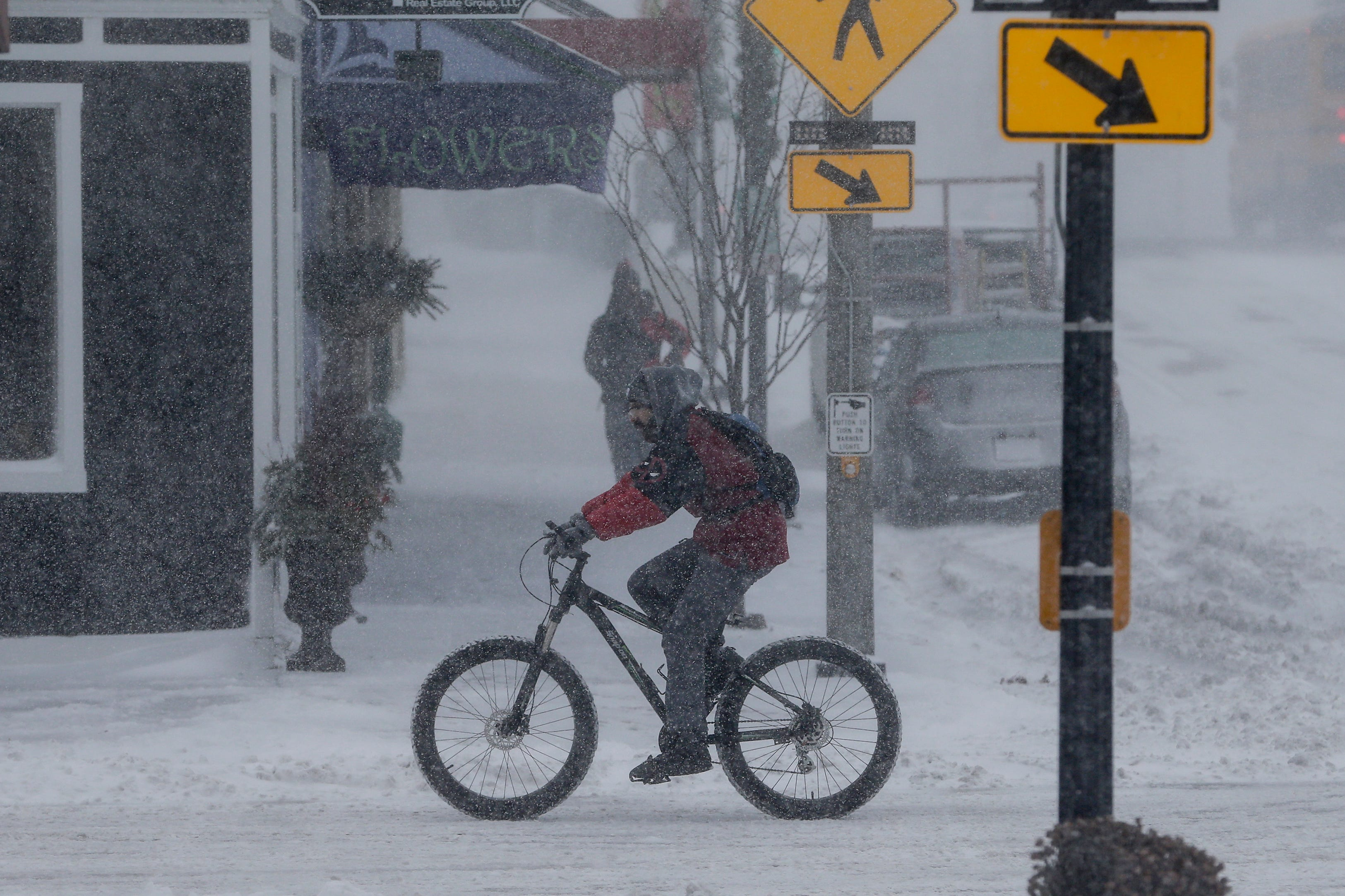 Lovely Winter storm hits Wisconsin