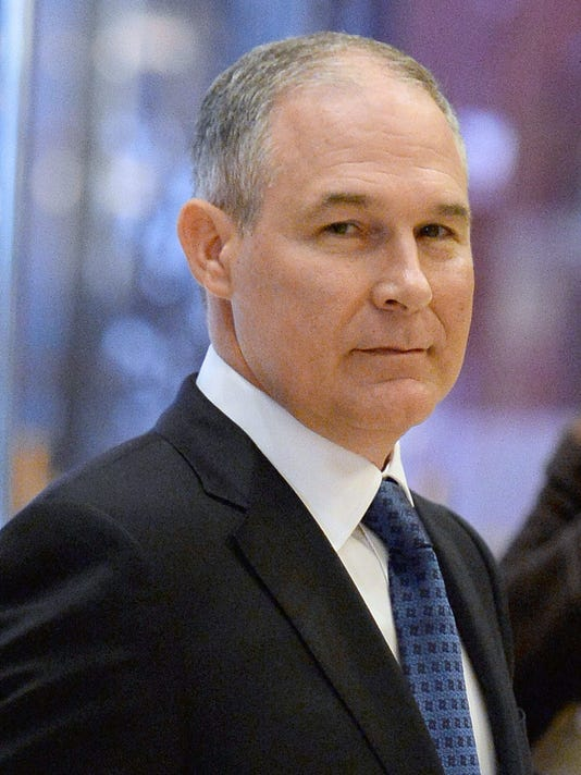 Scott Pruitt, Attorney General of Oklahoma, At Trump Tower
