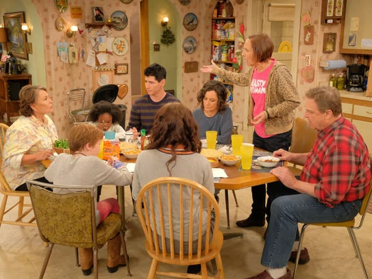 """The revival of """"Roseanne"""" premiered on ABC on March"""