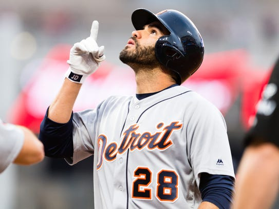 Tigers rightfielder J.D. Martinez.