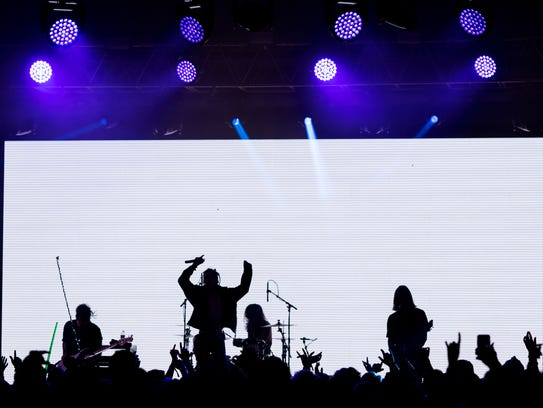 Chase Atlantic performs on the This Tent stage at Bonnaroo