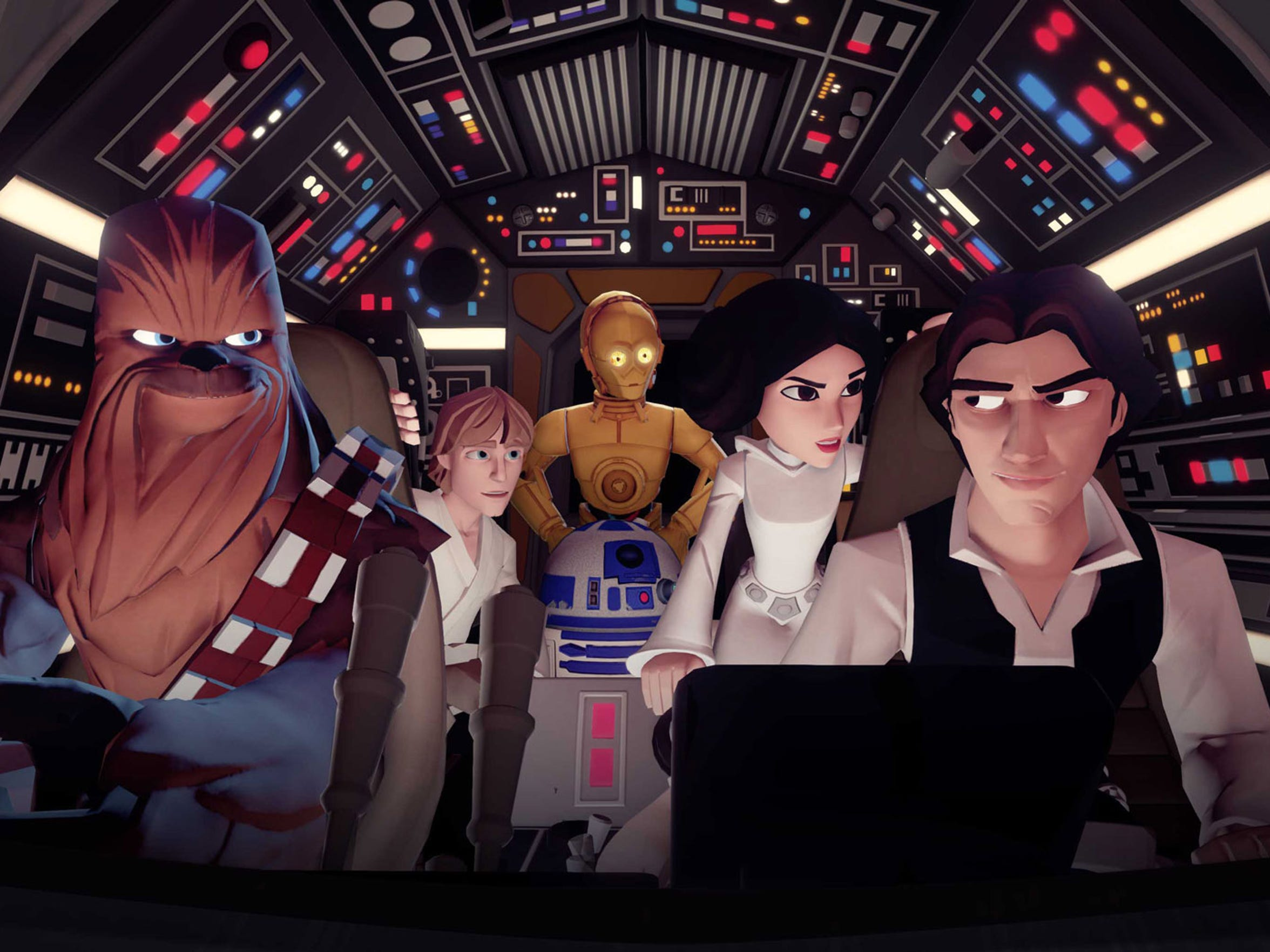 Play adventures with the classic Star Wars cast in
