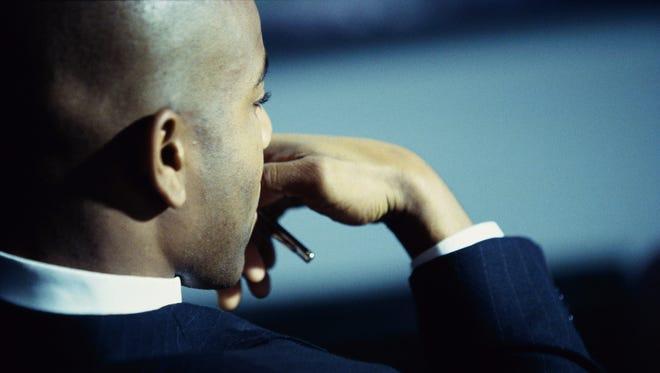 Businessman in contemplation