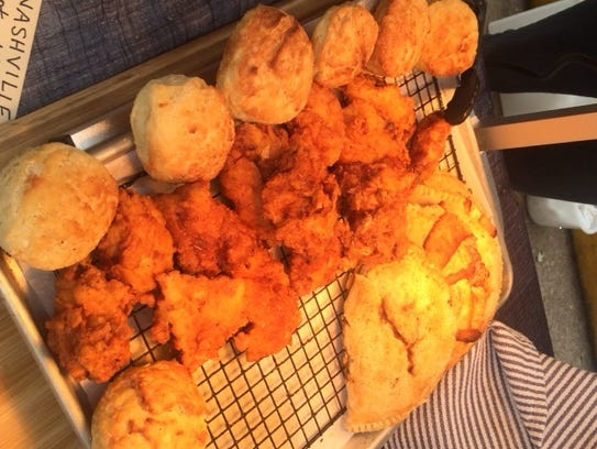 Five Dollar Holler chicken and biscuits, as well as