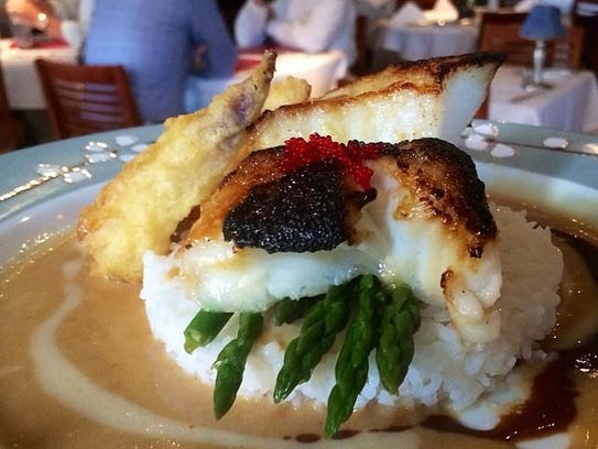 Miso-broiled sea bass from USS Nemo in Naples.