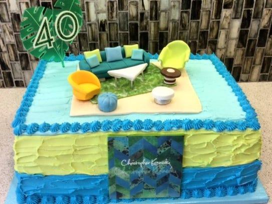 Over the Rainbow's birthday cake for interior designer