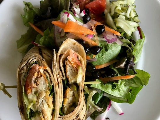 The fish wrap at Forty North in Hastings-on-Hudson