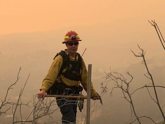 Montecito Fire Department Capt. Evan Skei fought the