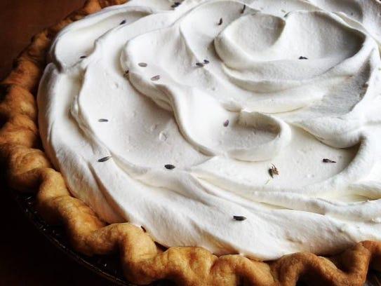 The lemon lavender pie from Dozen Bakery in Wedgewood-Houston