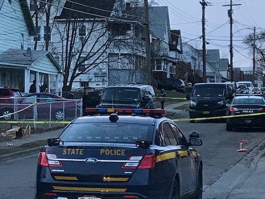 Police were seen on Crocker Avenue in Johnson City