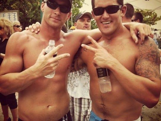 Jim DePalo, 30, (left) and Josh Marzucco, 31, friends