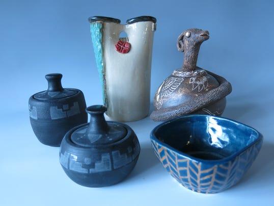 Student-made ceramic bowls