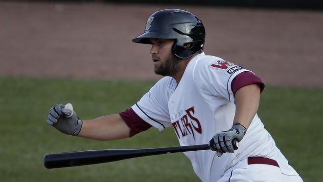 Timber Rattlers first baseman Ronnie Gideon hit 17 home runs last season in the Pioneer League.
