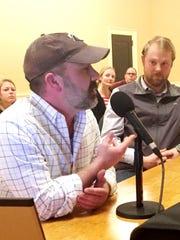 Studio proponent: Adam Brooks, left, executive director