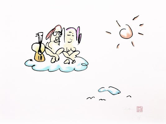 On Cloud Nine - Copyright C Yoko Ono