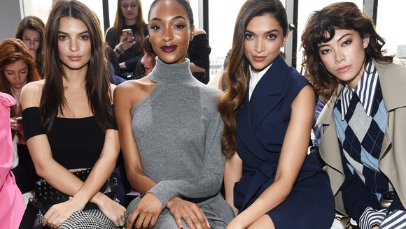 Emily Ratajkowski,Jourdan Dunn, Deepika Padukone, and