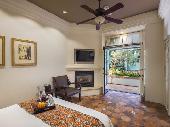 A room at the Cypress Inn in Carmel-by-the-Sea, California.