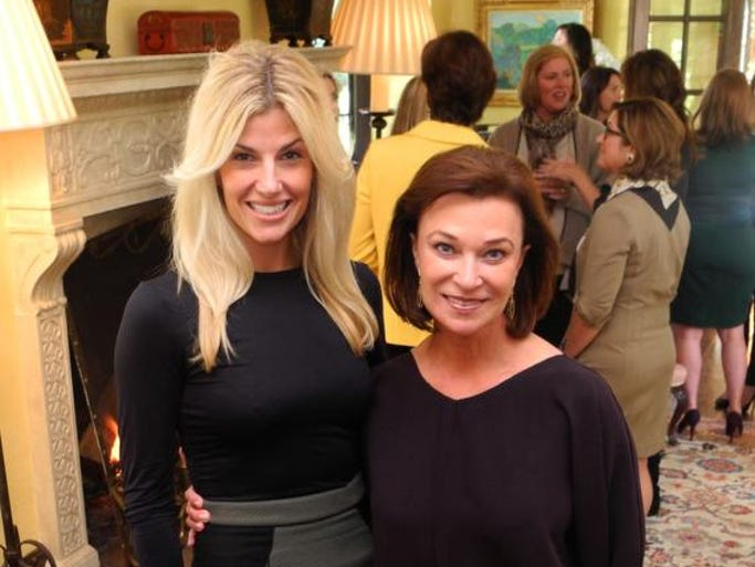 The Swan Ball co-chairs, Betsy Wilt, left, and Peggy Kinnart at The Swan Ball 2014 Committee Kickoff, held at the Kinnard home.