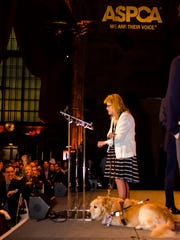 Brewster's Audrey Stone and her guide dog, Figo, attended the  ASPCA's annual Humane Awards Luncheon in New York City in November, where Figo was named the ASPCA's Dog of the Year.