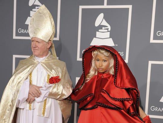 On Feb. 12, 2012, Nicki Minaj arrived at the 54th annual