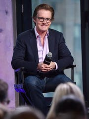 "Kyle MacLachlan speaks at the AOL BUILD Speaker Series about his film ""Inside Out"" at AOL Studios in 2015"