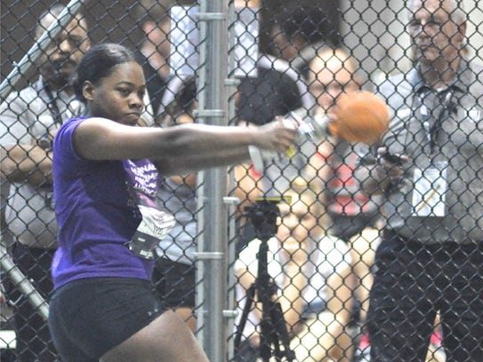 New Rochelle's Whitney Love spins during girls weight