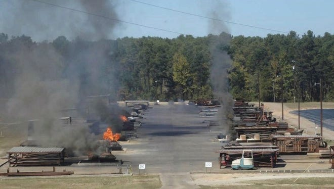 Clean Harbors Colfax uses open burning to dispose of toxic wastes at its site near Colfax. The Rapides Parish Police Jury voted Monday to oppose the company's request for permission to quadruple the amount of waste it burns.