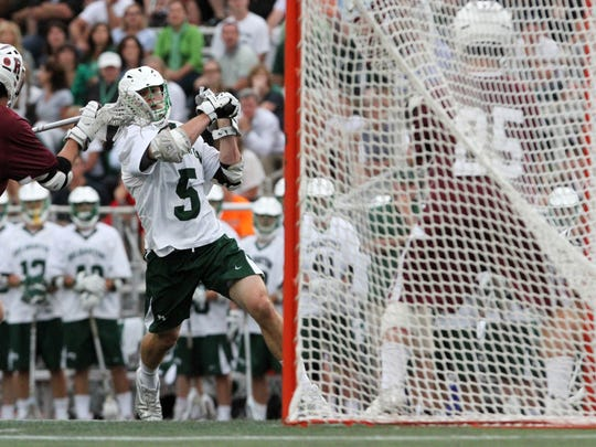 Conor Mackie (5) playing for Delbarton in 2014. Photo: Mark R. Sullivan/Staff Photographer